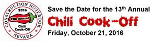 Chili Cook-Off Save the Date 10-21-16